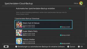 Nintendo Switch Online: Speicherdaten Backup in der Cloud